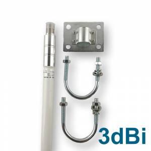 Antenne Outdoor 868Mhz 3dBi Fibre de verre - avec support de montage