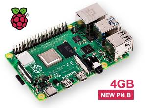 Nouvelle carte Raspberry PI 4 modèle B - Version 4Gb (Vue 0)