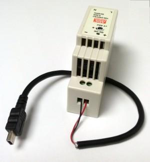 Kit Alimentation 5V 2,4A rail DIN avec connecteur miniUSB