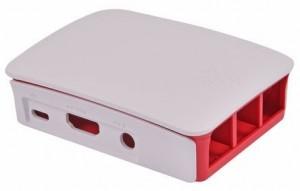 Boîtier de protection Rouge, blanc pour Raspberry Pi 3, modèle B Officiel