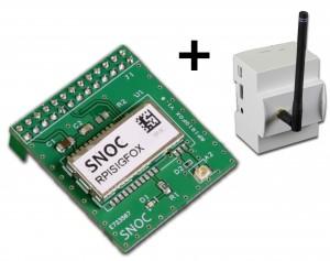 Kit Carte de communication SigFox pour Raspberry Pi avec Boitier DIN