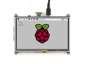 "Ecran LCD Tactile 5"" HDMI 800x480 Con. Raspberry Pi"