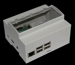 Boitier 6M Rail DIN pour Raspberry Pi B+ / Pi 2 /Pi 3 / Pi3 B+