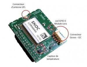 Carte d'extension LoRaWan pour Raspberry Pi2 et Pi3 avec Boitier DIN