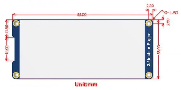 Module d'affichage E-Ink de 296x128, 2.9 pouces