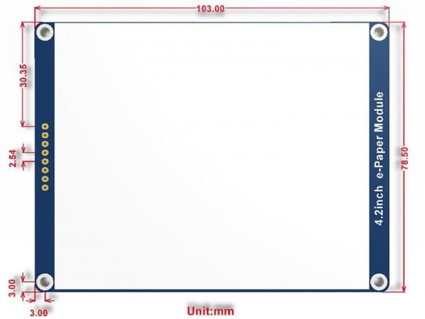 Module d'affichage E-Ink de 400x300, 4.2 pouces, 3 couleurs