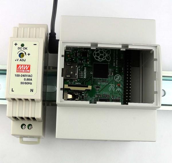 Kit Alimentation 5V 2,4A rail DIN avec connecteur microUSB