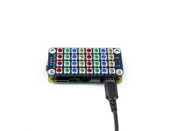 Afficheur Matrice de LED RGB 8x4 pour Raspberry Pi