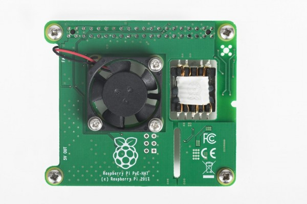 Raspberry Pi Power Over Ethernet (PoE) Hat  accessoire (HAT) pour l'ordinateur Raspberry Pi.