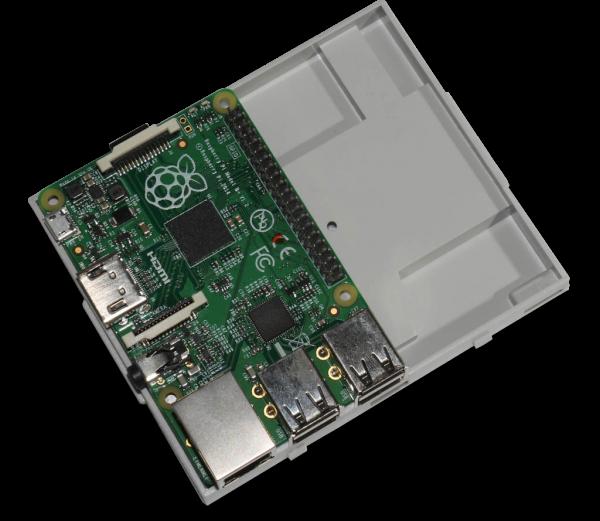 Boitier 6M Rail DIN pour carte Raspberry Pi B+ / Pi 2 /Pi 3