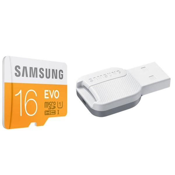 Memoire Samsung EVO 16Go microSDHC avec Adaptateur USB