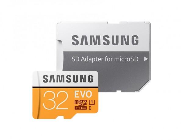 Memoire Samsung EVO 32Go microSDHC avec Adaptateur SD