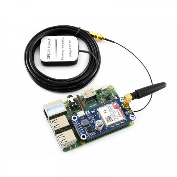 NB-IoT / eMTC / EDGE / GPRS / GNSS HAT for Raspberry Pi
