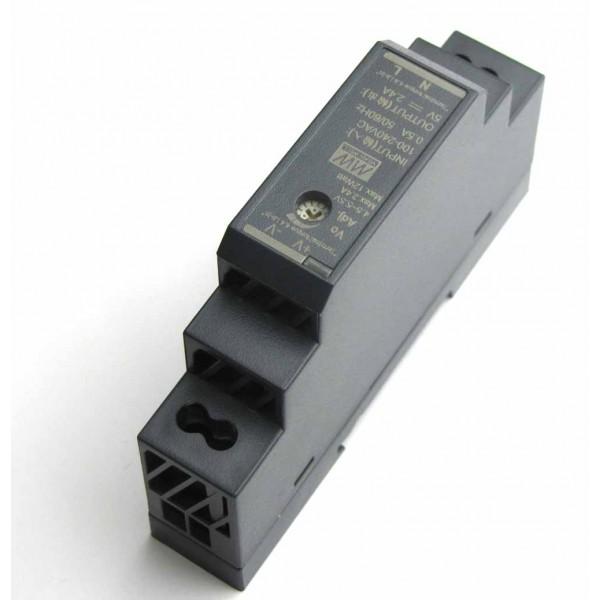 Kit Alimentation 5V 2,4A Rail DIN avec connecteur Micro USB Coudé