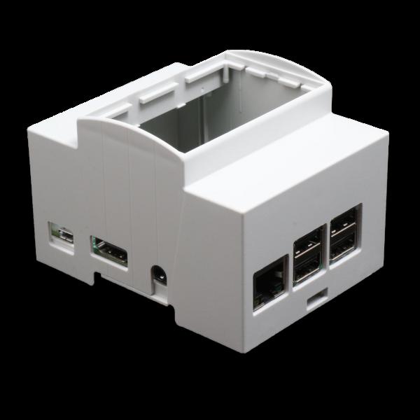 Boitier 4M Rail DIN pour Raspberry Pi B+ / Pi 2 / Pi 3 idéal domotique