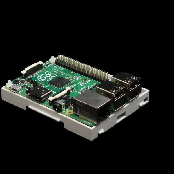 Boitier 4M Rail DIN pour Raspberry Pi B+ / Pi 2 / Pi 3 montage sur rail