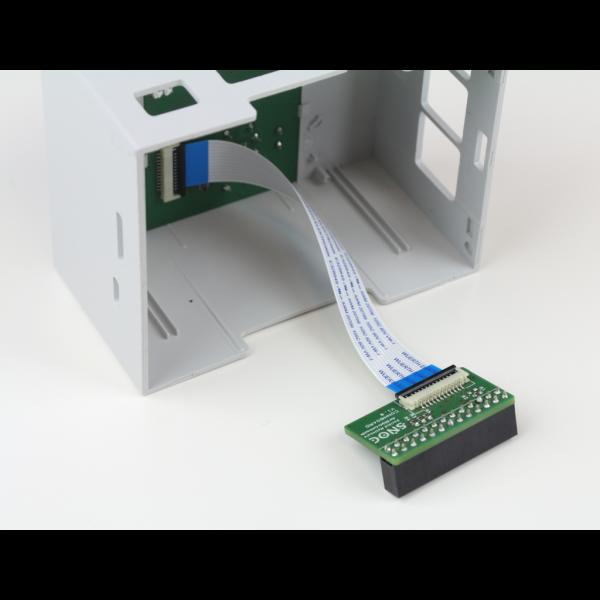 Boitier 4M Rail DIN avec afficheur OLED et clavier
