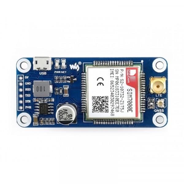 Carte d'extension RPI NB-IoT / eMTC / EDGE / GPRS / GNSS (SIM7000E)