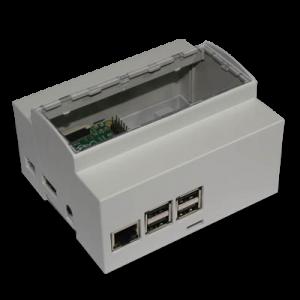 Boitier 6M Rail DIN pour Raspberry Pi B+ / Pi 2 /Pi 3 pour la domotique