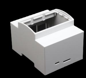 Boitier 4M Rail DIN pour Raspberry Pi B+ / Pi 2 / Pi 3 personnalisable en façade