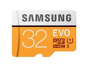 Carte Memoire Samsung EVO 32Go microSDHC avec Adaptateur SD