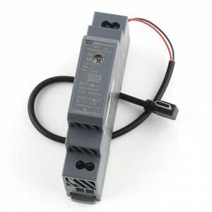 Kit Alimentation 5V 2,4A Rail DIN pour Raspberry Pi 4 avec connecteur USB-C Coudé