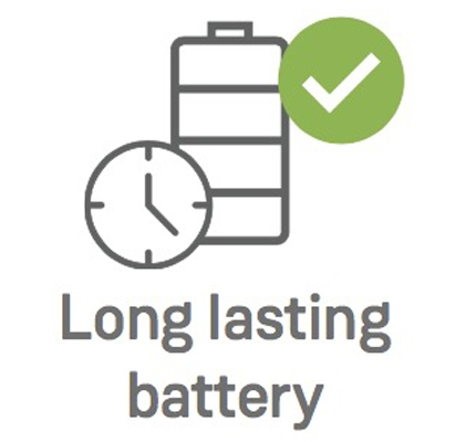 Ealloora Long lasting battery