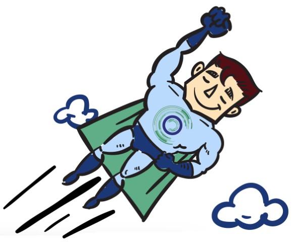 Super Heros Volant